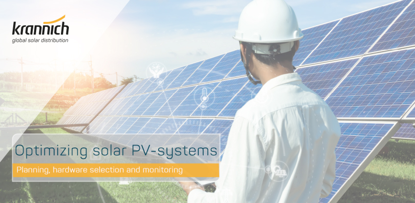 Planning, hardware selection and monitoring for the optimization of solar PV systems